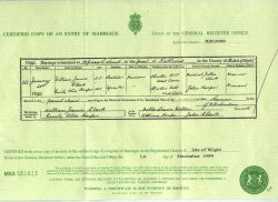 Sovereign Ancestry Lincolnshire - Marriage Certificate