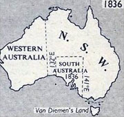Sovereign Ancestry UK -  Old Australia Map